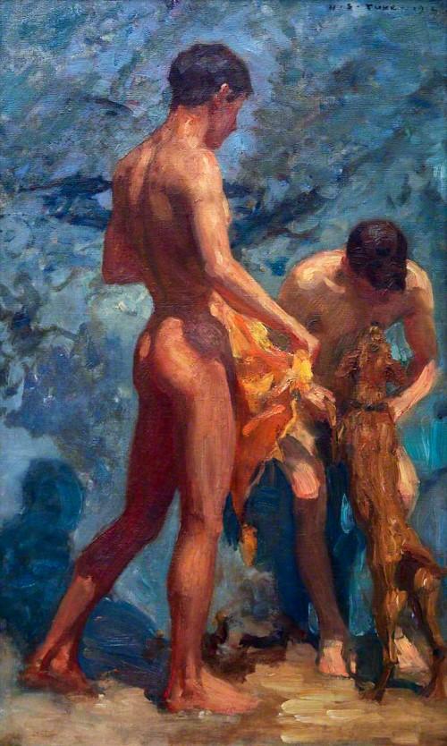 Bathing Boys naked