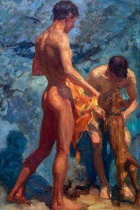 naked boys gay erotic painting canvas print