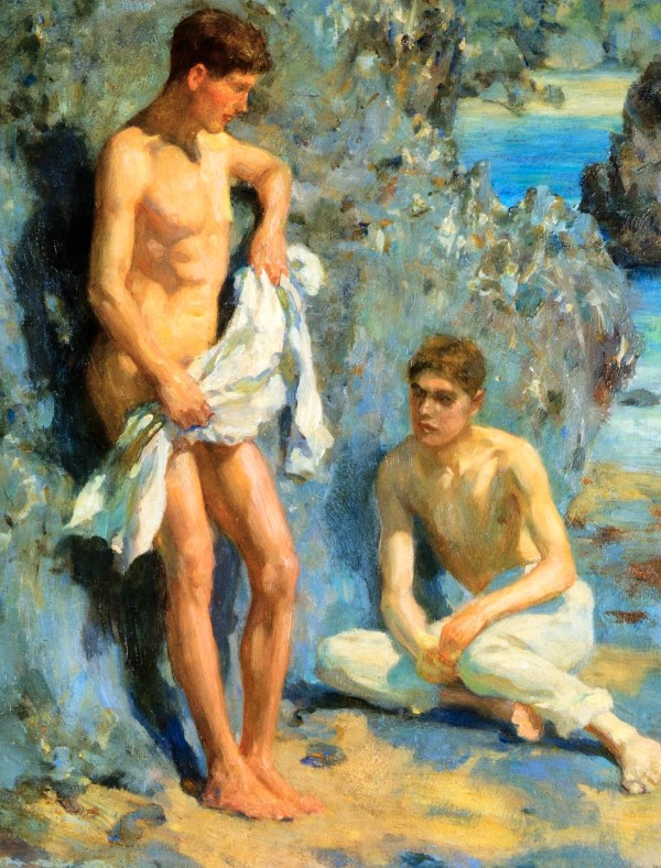 boys after bathing