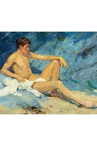 male nude art print