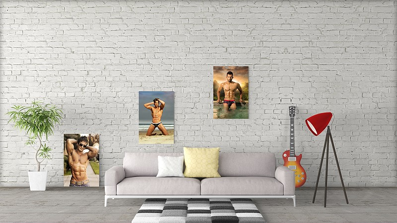 male art canvas prints