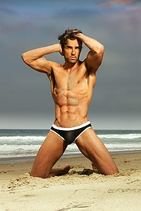 Hot hunk on the beach
