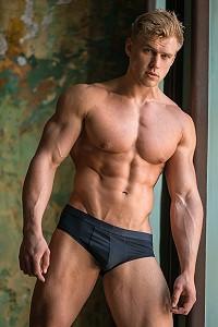 muscled man gay art