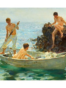 Boys bathing painting