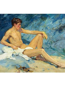 Male nude oil painting